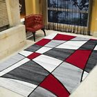 Color Block Rug Linear Geometric Modern Contemporary Hand Carved Area