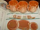 MINTY MINT!  FIRE KING PEACH LUSTRE DEMITASSE ROYAL CUP SET OF 3!  CHILD'S CUP!
