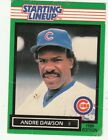 1989 KENNER STARTING LINEUP CARD #8 ANDRE DAWSON CHICAGO CUBS