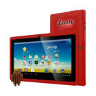 WORRYFREE GADGETS 7DRK-Q-RED 7IN ANDROID 4.4 QUAD CORE 4GB BT DUAL CAMERA WL