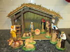 Vintage SEARS TRIM SHOP 11 Piece Nativity Set 71 97169 Christmas figurine Decor