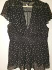Torrid black empire waist top with all over music notes size 0