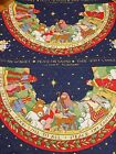 Susan Winget Peace on Earth Quilted Fabric Panel Nativity Christmas Tree Skirt