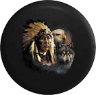 Spare Tire Cover Native American Indian Eagle Wolf Spirit Animal jk Accessories