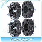 4pcs 15 5 Lug 5x45 to 5x5 1 2 studs wheel spacers For Jeep Black Adapters