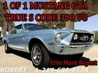 1967 Ford Mustang GT 390 GTA BIG BLOCK 1 OF 1 DELUXE INTERIOR CLASSIC CAR OLD SCHOOL ANTIQUE RESTOMOD MUSCLE CAR CHEVELLE CHARGER ROAD RUNNER