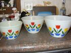 Fire King Nesting Tulip Mixing Bowls 9585 75