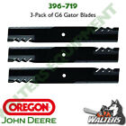 Set of 3 Gator Blades 396 719 for John Deere M143520 M145516 M152726