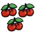 Vintage Cherry Applique Patch Berry Sweet Cherries 1 3 Pack Iron on