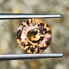 244 Ct Amber colored Sapphire Natural no heat sapphire 82 mm round