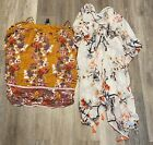 Womens Top Lot Large Hippie Flowy