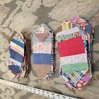 Lot of 117 1920 30s String Pieced Quilt Blocks with original papers Hand sewn