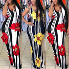 Plus Size Ladies Floral Boho Women Party Bodycon Maxi Dress Clothing Sleeveless
