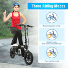Folding Electric Bike Collapsible Moped Bicycle Outdoor Riding LED Light OJUIKL
