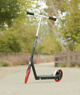 Razor A5 Carbon Lux Kick Scooter Black Red Wheels Steel Outdoor Park Kids