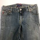 BCBG MAXAZRIA Womens Blue Pants Stretch Denim Jeans Size 8 Straight Leg