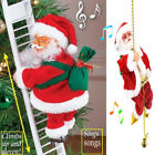 Electric Christmas Santa Claus Climb Ladder Toy Home Xmas Tree Hanging Decor US