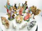 Vtg DEPOSE NATIVITY FIGURES Fontanini SET of 12 Pieces ITALY Spider Mark 1960s