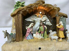 Avon Vintage Lighted Musical Nativity Scene Christmas Pre Owned Mint Condition