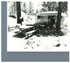 FOUND BW PHOTO G 7402 GREAT SILVER METAL TRAILER AWNING PICNIC TABLE CAMP SITE