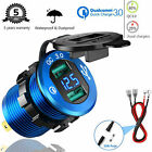 12v-24v Car Usb Charger Led Digital Display Voltage Amp Gauge Ammeter Voltmeter