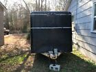 7x14 Enclosed Trailer Cargo ATV Motorcycle Utility Box Trailers V Nose