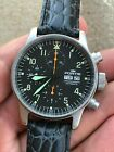 FORTIS B-42 FLIEGER 597.10.141.2 CHRONOGRAPH AUTOMATIC MILITARY AVIATION PILOT