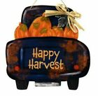 New Happy Harvest Decorative Blue Pickup Truck with Pumpkins Wall Sign Decor