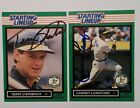 Auto Carney Lansford/ Terry Steinbach Auto 1989 Starting lineup Cards Lot / A's