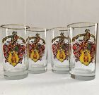 Libbey Glass 8 oz Drink Glasses Tumblers Royal Order of Jesters Set of 4