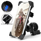 ATV Motorcycle Cell Phone GPS Mount Holder USB Charger For Harley Honda BMW