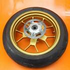 04-09 APRILIA RSV1000R OEM PIRELLI STRAIGHT REAR GOLD WHEEL BACK RIM W TIRE