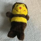 VINTAGE 1980 R Dakin & Co Vintgae Hard Plush Beanie Bumble Bee Brown & Yellow