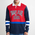 NWT Tommy Jeans Long Sleeve Vintage Polo Rugby Hilfiger Size L