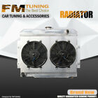 CJ Series Radiator with Fan shroud For Jeep 1970 1985 V8 3 ROW Aluminum CU583