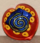 Mad Art Dichroic Art Glass Heart Paperweight Signed