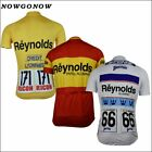 NOWGONOW 2017 Cycling Jersey Retro men yellow white red pro team Clothing Bike