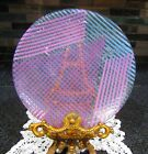Vintage Signed Sherry Schuster Fused Glass Plate 11 40 1985 Cat Rescue