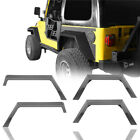 4PCS Steel Fender Flares w Rear Wheel Cladding for Jeep Wrangler TJ 1997 2006