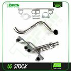 Fits Jeep  Wrangler SE/Sahara 4.0L 2.5L Stainless Manifold Header w/ Downpipe