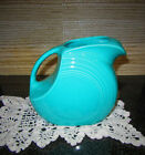 Vintage Homer Laughlin Fiesta Ware Large Water Disc Pitcher Turquoise Teal Blue