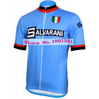 Retro cycling jersey clothing blue pro team bike wear riding racing maillot