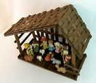 Vintage Enesco NATIVITY Set Children 16 Piece W Creche Christmas Jesus Manger