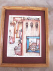 Amado Pena Native American ACOMA 1987 DOUBLE Matted Wood Frame Print 11 x 14