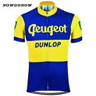 NOWGONOW 2017 Cycling Jersey men yellow blue vintage pro team Clothing Bike