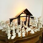1994 Lenox China Jewels Nativity 24 KT GOLD Complete Set 35 Porcelain Figurines