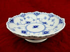 Royal Copenhagen Blue Fluted Half Lace Footed Bowl