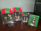 4 NIP LEMAX AND HOLIDAY TIME CHRISTMAS VILLAGE FIGURES