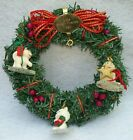 Hallmark Christmas 1990 Little Frosty Friends Memory Wreath with Ornaments B1