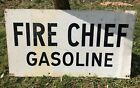 Vintage Original Texaco Fire Chief Gas Station Double Sided Sign
